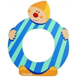 LETTRE O - CLOWN BOIS PEINT-jouets-sajou-56