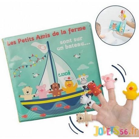 LIVRE DE BAIN ET SES PUPPETS - Jouets56.fr - Magasin jeux et jouets dans Morbihan en Bretagne