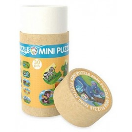 TUBE MINI PUZZLE JUNGLE 30 PCES BOIS