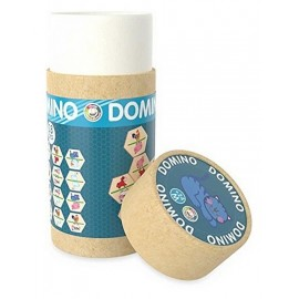 TUBE DOMINOS FERME 28 PIECES BOIS