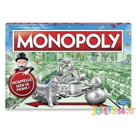 MONOPOLY CLASSIQUE REFRESH NOUVEAUX PIONS - Jouets56.fr - Magasin jeux et jouets dans Morbihan en Bretagne