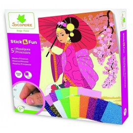 STICK&FUN PRINCESSES 5 MOSAIQUES 1500 PIECES