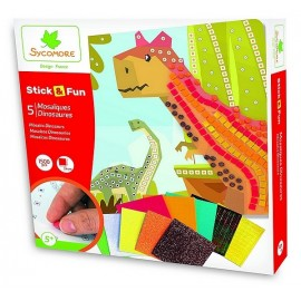 STICK&FUN DINOSAURES 5 MOSAIQUES 1500 PIECES