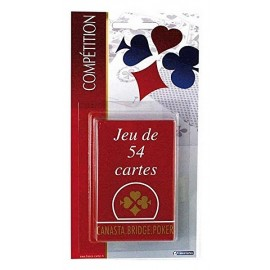 JEU 54 CARTES COMPETITION BLISTER