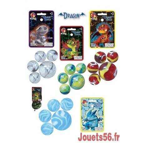 20 BILLES ET 1 BOULET DRAGONS-jouets-sajou-56