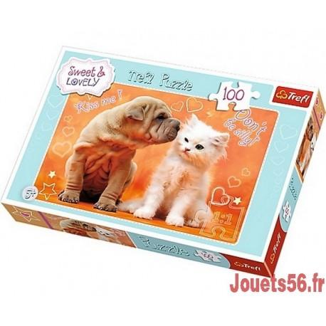 PUZZLE CHIEN ET CHAT-jouets-sajou-56