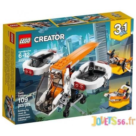 31071 LE DRONE D'EXPLORATION LEGO CREATOR - Jouets56.fr - Magasin Jeux et Jouets dans le Morbihan en Bretagne