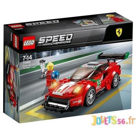 75886 FERRARI 488 GT3 LEGO SPEED CHAMPIONS - Jouets56.fr - Magasin Jeux et Jouets dans le Morbihan en Bretagne