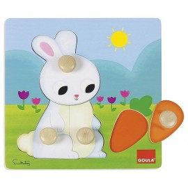 PUZZLE 4 BOUTONS LAPIN
