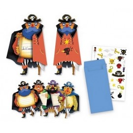 CARTES INVITATIONS PIRATES X8