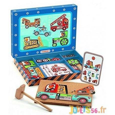 JEU DE CLOUS VEHICULES TAP TAP - Jouets56.fr - Magasin jeux et jouets dans Morbihan en Bretagne