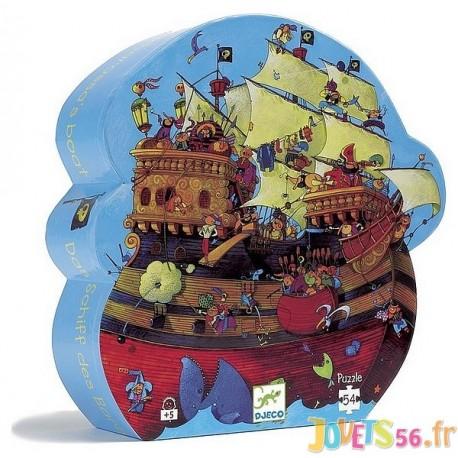 PUZZLE BATEAU DE BARBEROUSSE 54 PCES - Jouets56.fr - Magasin jeux et jouets dans Morbihan en Bretagne