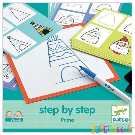 STEP BY STEP PRIMO DESSINER PAS A PAS - Jouets56.fr - Magasin jeux et jouets dans Morbihan en Bretagne