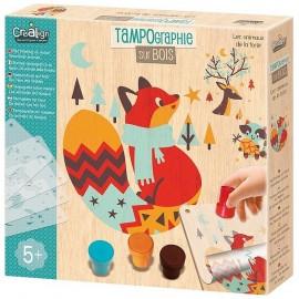 TAMPOGRAPHIE BOIS ANIMAUX DE LA FORET - Jouets56.fr - Magasin jeux et jouets dans Morbihan en Bretagne
