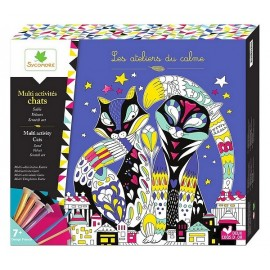 COFFRET CHAT MULTI ACTIVITES LOVELY BOX XL