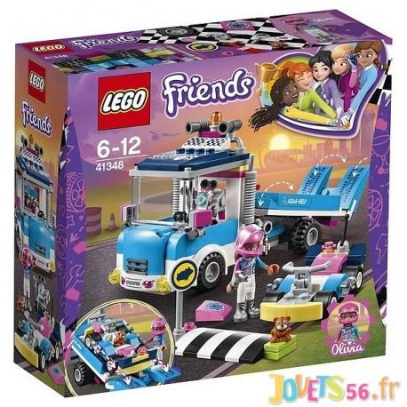 41348 LE CAMION DE SERVICE DEPANNEUSE LEGO FRIENDS - Jouets56.fr - Magasin jeux et jouets dans Morbihan en Bretagne