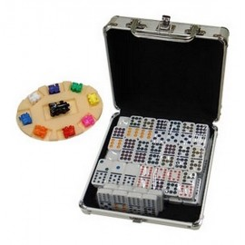 COFFRET DOMINOS TRAIN MEXICAIN DOUBLE 12
