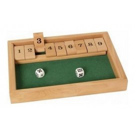 JEU SHUT THE BOX 9 EN BOIS