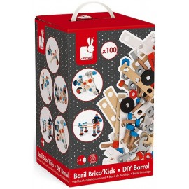 BARIL BRICO KIDS 100 PIECES