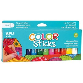 12 COLOR STICKS GOUACHE SOLIDE