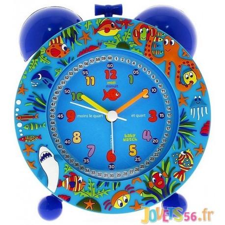 REVEIL SILENCIEUX BLEU OCEAN - Jouets56.fr - Magasin jeux et jouets dans Morbihan en Bretagne