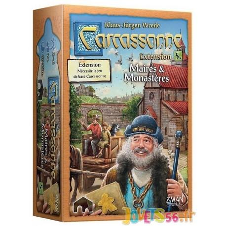 CARCASSONNE EXT.5 MAIRES ET MONASTERES - Jouets56.fr - Magasin jeux et jouets dans Morbihan en Bretagne