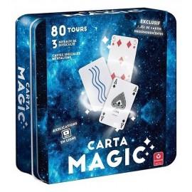 COFFRET MAGIE 80 TOURS DE CARTES BTE METAL CARTAMAGIC