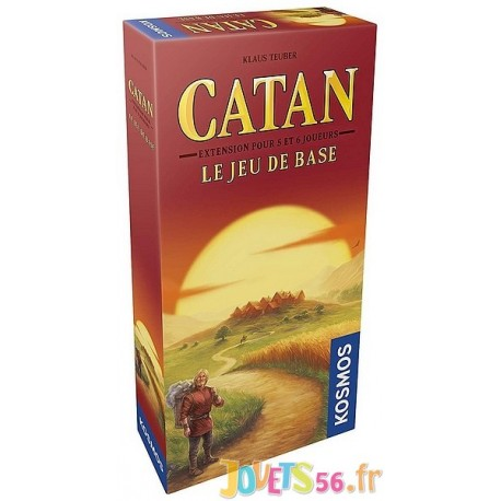 JEU CATAN EXTENSION 5-6 JOUEURS - Jouets56.fr - Magasin jeux et jouets dans Morbihan en Bretagne