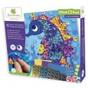 STICK N FUN TABLEAUX MAXI MOSAIQUES CREATURES MARINES X3