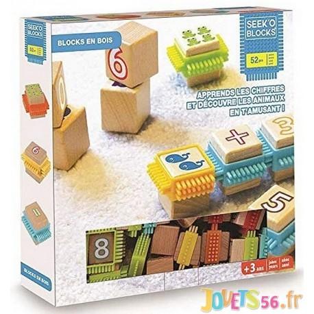 COFFRET SEEK'O BLOCKS APPRENDRE LES CHIFFRES EN S'AMUSANT - Jouets56.fr - Magasin jeux et jouets dans Morbihan en Bretagne