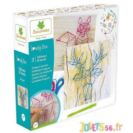 TABLEAUX FIL TENDU LOVELY BOX PM - Jouets56.fr - Magasin jeux et jouets dans Morbihan en Bretagne