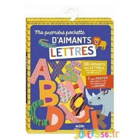 MA PREMIERE POCHETTE D'AIMANTS LETTRES - Jouets56.fr - Magasin jeux et jouets dans Morbihan en Bretagne