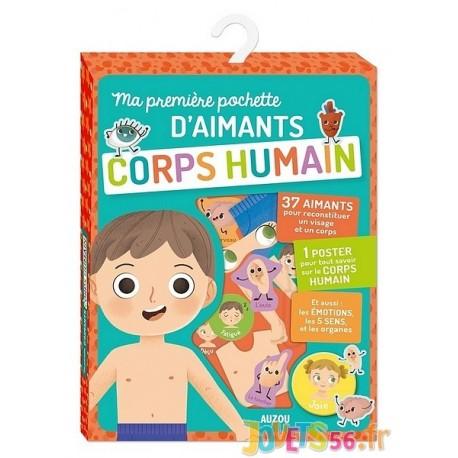 MA PREMIERE POCHETTE D'AIMANTS CORPS HUMAIN - Jouets56.fr - Magasin jeux et jouets dans Morbihan en Bretagne
