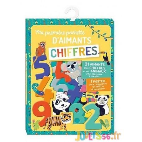MA PREMIERE POCHETTE D'AIMANTS CHIFFRES - Jouets56.fr - Magasin jeux et jouets dans Morbihan en Bretagne