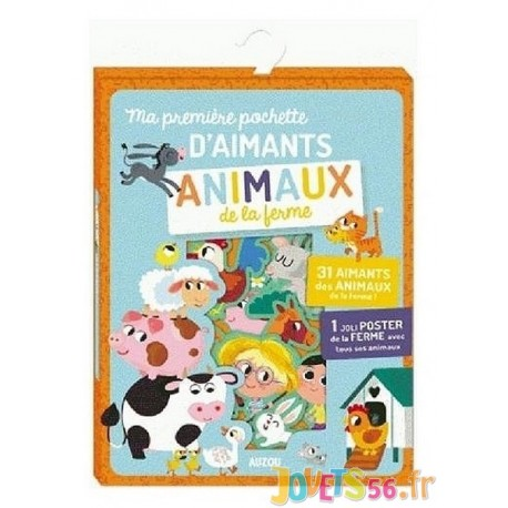 MA PREMIERE POCHETTE D'AIMANTS ANIMAUX DE LA FERME - Jouets56.fr - Magasin jeux et jouets dans Morbihan en Bretagne