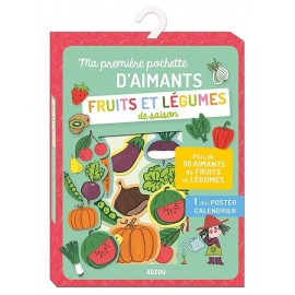 FRUITS ET LEGUMES POCHETTE D'AIMANTS