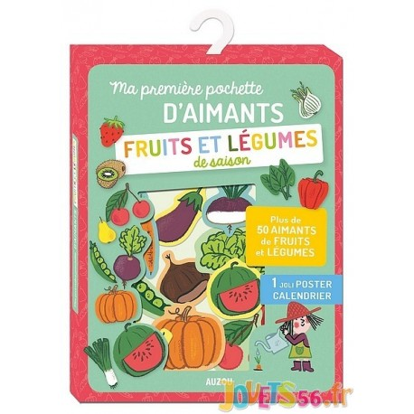 MA PREMIERE POCHETTE D'AIMANTS FRUITS ET LEGUMES - Jouets56.fr - Magasin jeux et jouets dans Morbihan en Bretagne