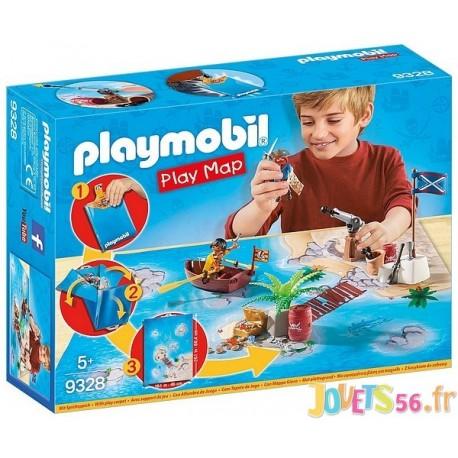 9328 PIRATES AVEC CARTE SUPPORT DE JEU PLAYMAP - Jouets56.fr - Magasin jeux et jouets dans Morbihan en Bretagne