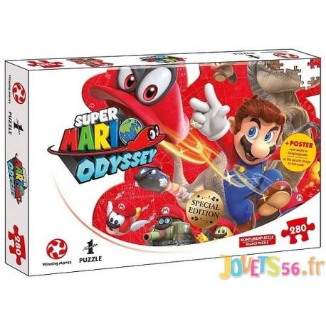 PUZZLE SUPER MARIO ODYSSEY CAPPY 280PCES - Jouets56.fr - Magasin jeux et jouets dans Morbihan en Bretagne