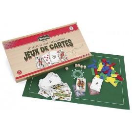 COFFRET BOIS JEUX DE CARTES AVEC TAPIS - Jouets56.fr - Magasin jeux et jouets dans Morbihan en Bretagne