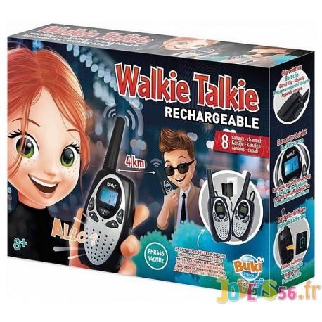 TALKIE WALKIE RECHARGEABLE 8 CANAUX PORTEE 4KM - Jouets56.fr - Magasin jeux et jouets dans Morbihan en Bretagne