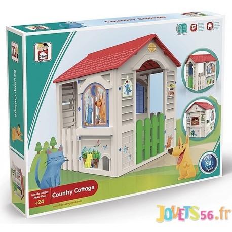 MAISON COUNTRY COTTAGE 103X84X104CM - Jouets56.fr - Magasin jeux et jouets dans Morbihan en Bretagne