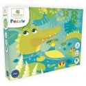 PUZZLE CROCODILE 36 PIECES 40X50CM