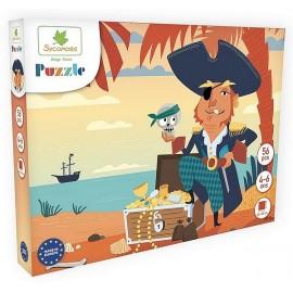 PUZZLE PIRATE 56 PIECES 40X50CM - Jouets56.fr - Magasin jeux et jouets dans Morbihan en Bretagne