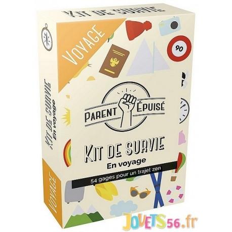 JEU EN VOYAGE PARENT EPUISE KIT DE SURVIE - Jouets56.fr - Magasin jeux et jouets dans Morbihan en Bretagne