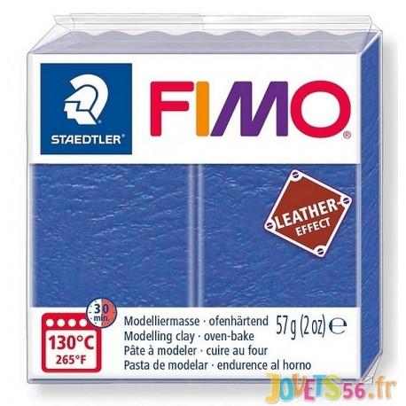 PATE FIMO 309 - EFFET CUIR INDIGO - Jouets56.fr - Magasin jeux et jouets dans Morbihan en Bretagne