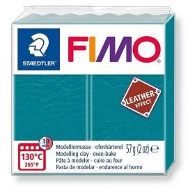 PATE FIMO 369 - EFFET CUIR BLEU LAGON - Jouets56.fr - Magasin jeux et jouets dans Morbihan en Bretagne