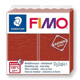 PATE FIMO 749 - EFFET CUIR ROUILLE
