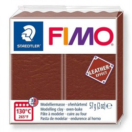 PATE FIMO 779 - EFFET CUIR NOISETTE - Jouets56.fr - Magasin jeux et jouets dans Morbihan en Bretagne