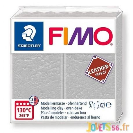 PATE FIMO 809 - EFFET CUIR GRIS GORGE DE PIGEON - Jouets56.fr - Magasin jeux et jouets dans Morbihan en Bretagne
